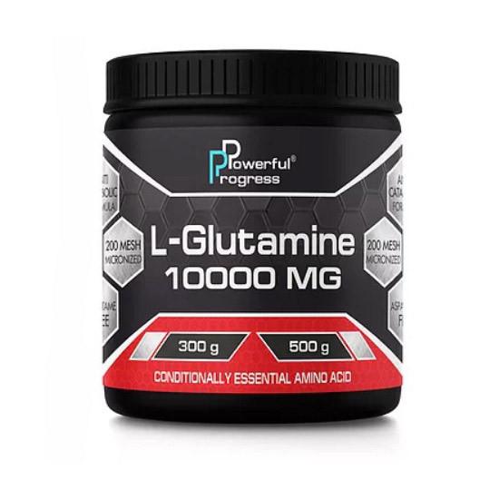 Глютамин Powerful Progress L-Glutamine 10000 mg (300 г) паверфул прогресс л-глютамин