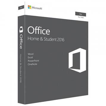 Microsoft Office Mac 2016 Для дома и бизнеса Русский 1 pack DVD Box (W6F-00878)