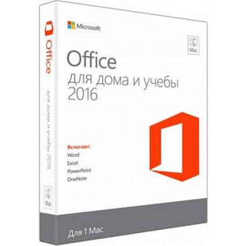 Microsoft Office Mac 2016 Для дома и учебы Английский 1 pack DVD Box (GZA-00646)
