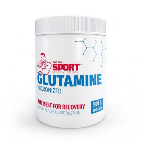 Глютамин Doctor Sport Glutamine Micronized (500 г) доктор спорт глютамин микронизид