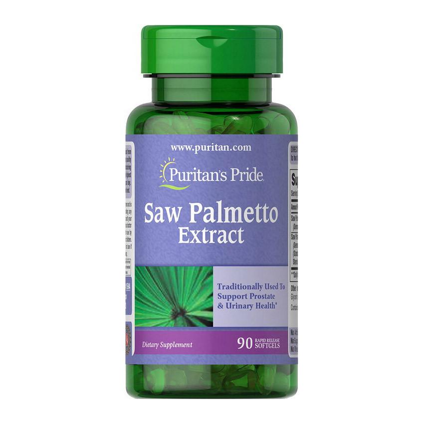 Экстракт плодов пальмы Puritan's Pride Saw Palmetto Extract (90 капс) пуритан прайд сав пальметто экстракт