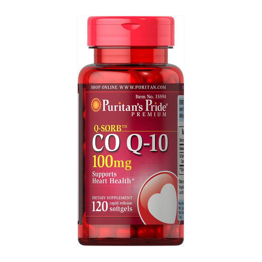 Витамины Puritan's Pride Q-SORB Co Q-10 100 mg (120 капс) пуритан прайд ку-сорб цо-ку