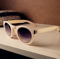 Женские солнцезащитные очки, цвет светлый беж, фото 1