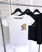 Женская футболка True Love белая качественная шелкография