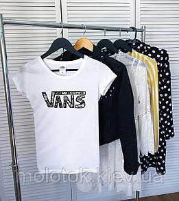 Женская футболка Vans белая качественная шелкография Реплика