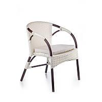 Плетеный стул из ротанга искусственного neapol белый, 58х61х80 см