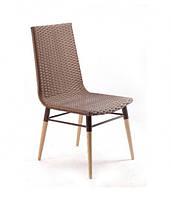Плетеный стул из искусственного ротанга Original коричневый, 45х58х92 см