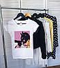 Женская футболка Catwoman белая качественная шелкография