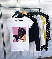Женская футболка Catwoman белая качественная шелкография, фото 1