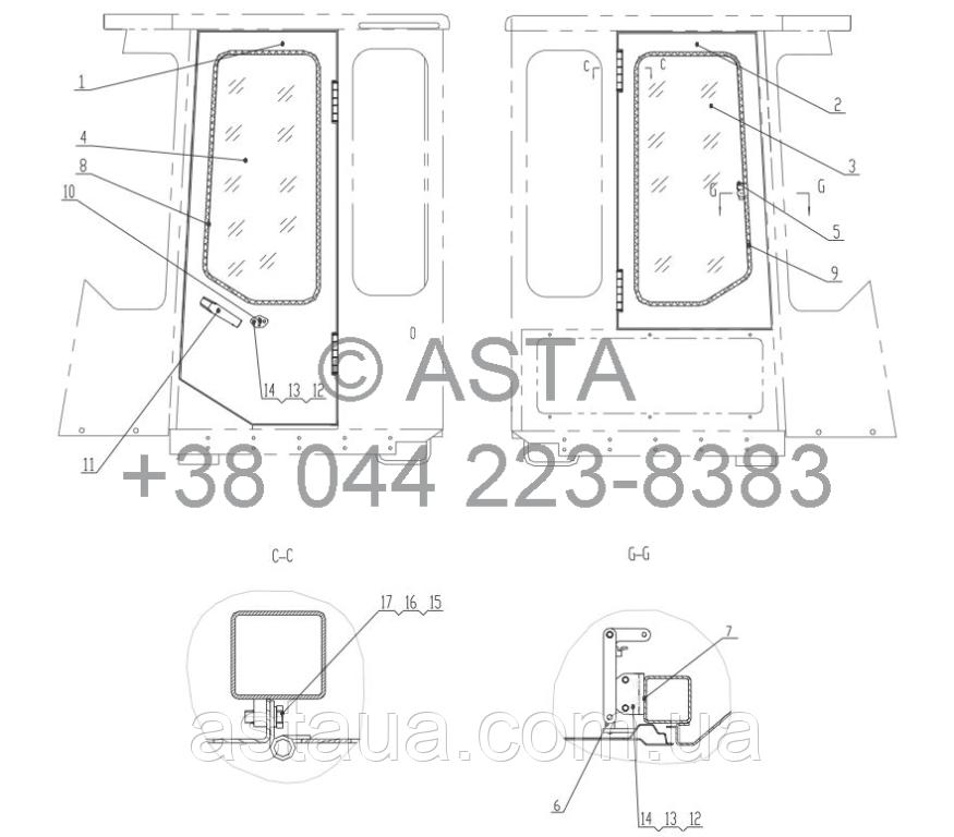 ЛЕВАЯ / ПРАВАЯ ДВЕРЬ - Z50E130102T38 - Z50E130103T38