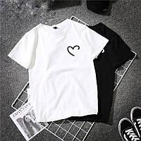 Женская футболка One is love белая качественная шелкография, фото 1