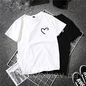 Женская футболка One is love белая качественная шелкография