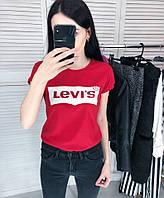 Женская футболка Levis белая качественная шелкография Реплика, фото 1