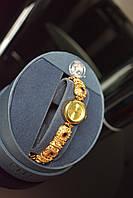 Серебряные часы в позолоте 925 проба TECHNIBOND с разноцветными фианитами