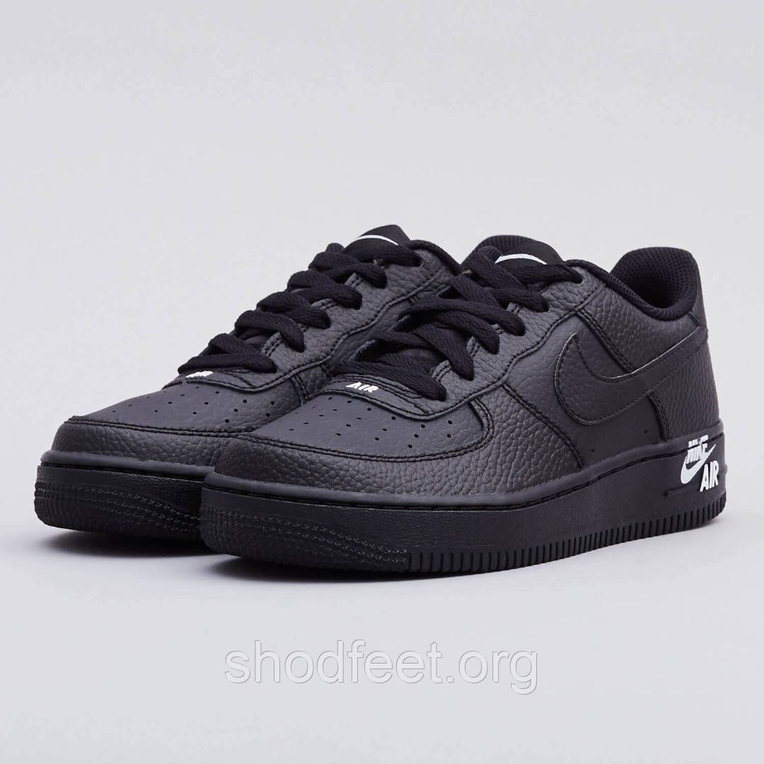 Мужские кроссовки Nike Air Force 1 Lthr Black