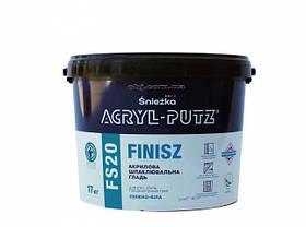 Шпаклевочная гладь Снежка (Sniezka) ACRYL-PUTZ FS20 финиш, 17 кг