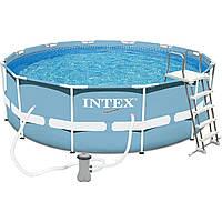 Каркасный бассейн Intex 26718 FR размер 366x122 см  Этот год ! + Насос-фильтр+ лестница