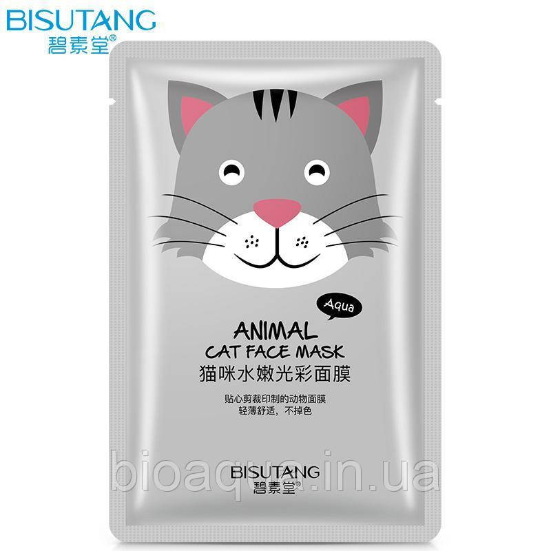 Питательная маска для лица Bisutang Animal Cat Face Mask
