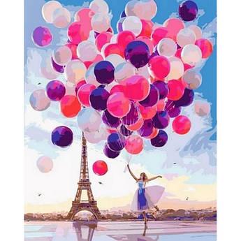 Картина по номерам Радужный Париж , 40x50 см Babylon