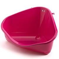 Туалет для грызуна Moderna Pet`s Corner Large, угловой, 49х34х26 см, розовый, R30006