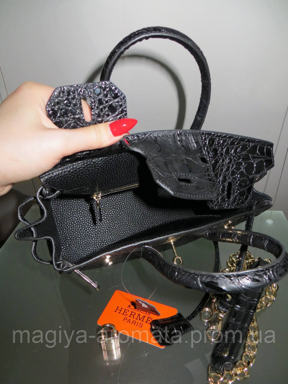 76feac9a529e Женская сумка Hermes Биркин черная 20см Original quality, цена 3 717 грн.,  купить в Киеве — Prom.ua (ID#929495697)
