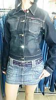 Джинсовый пиджак женский черный