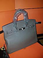 c9b5d87fdad6 Женская сумка от Hermes 35 см серая кофейная Original quality Гермес Биркин  Эрме