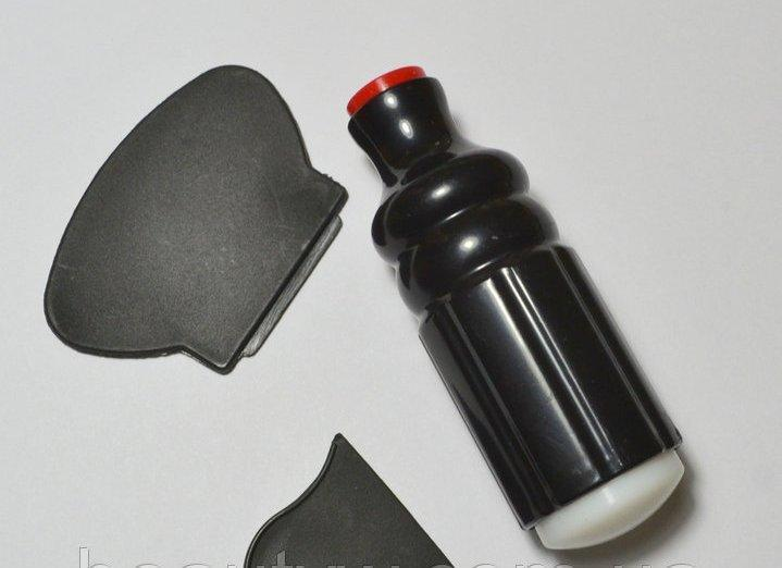 Штампик со скребком для стемпинга двухсторонний