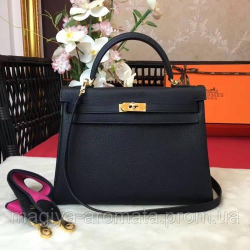 0d344477eac0 Женская сумка Hermes Kelly 28 см черная шикарная сумка Original quality  Гермес Келли Эрме
