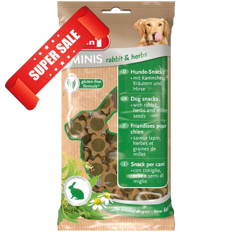 Лакомство для собак 8in1 Minis Rabbit & Herbs 100 г