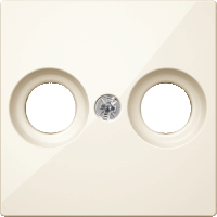 Накладка антенной розетки, 2 отверстия, бежевый Shneider Merten(MTN4122-0344)