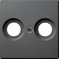 Накладка антенной розетки, 2 отверстия, антрацит Shneider Merten(MTN4122-0414)
