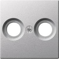 Накладка антенной розетки, 2 отверстия, алюминий Shneider Merten (MTN4122-0460)