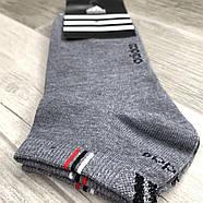 Носки мужские демисезонные спортивные х/б Adidas, Турция, размер 41-44, короткие, ассорти, 06260, фото 2