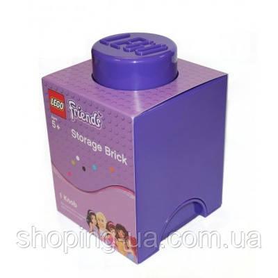 Одноточечный фиолетовый контейнер для хранения Lego 40011743