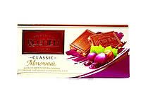 Шоколад Roshen молочний з подрібненим лісовим горіхом та родзинками 90 г