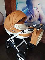 Детская коляска 2-в-1 Lumi (Люми эко-кожа) на пластиковой корзине