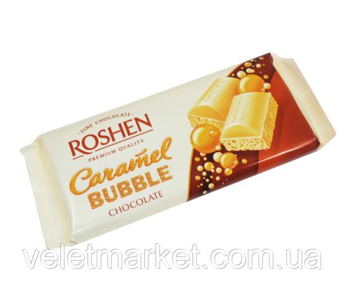 Шоколад Roshen пористый белый карамельный 85 г