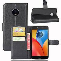 Чехол-книжка Litchie Wallet для Motorola Moto E4 XT1762 Черный