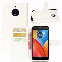 Чехол-книжка Litchie Wallet для Motorola Moto E4 XT1762 Белый