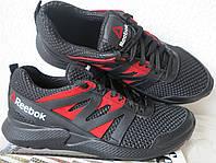 Reebok сетка! Черные с красным мужские  кроссовки! Новинка от Рибок 2019 реплика., фото 1