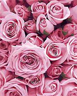 РукИТвор Картина по номерам (AS0248) Нежные розы 40 х 50 см