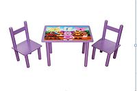 Набор стол и 2 стульчика Лунтик. Украина (Арт.063)