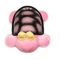 Ночник-проектор Snail Twilight Звездная морская черепашка музыкальный с USB-кабелем Pink