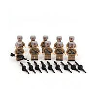 Набор LEGO! Мини фигурки Солдаты второй мировой войны! Советский солдат! Цена за штуку!