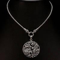 Серебряное колье с марказитами 0108, фото 1