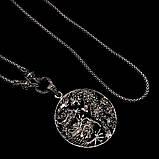 Срібний кулон з марказитами 0108, фото 4