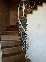 Белые перила для лестницы. Кованые перила в дом, квартиру, дачу, котедж., фото 1