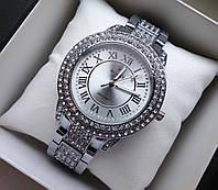 Наручные часы Rolex серебро с камнями