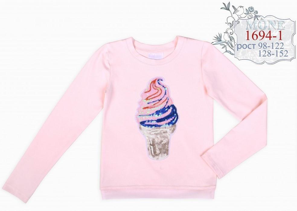 Детская кофточка с мороженым тм Моне р-р 122 (розовая)